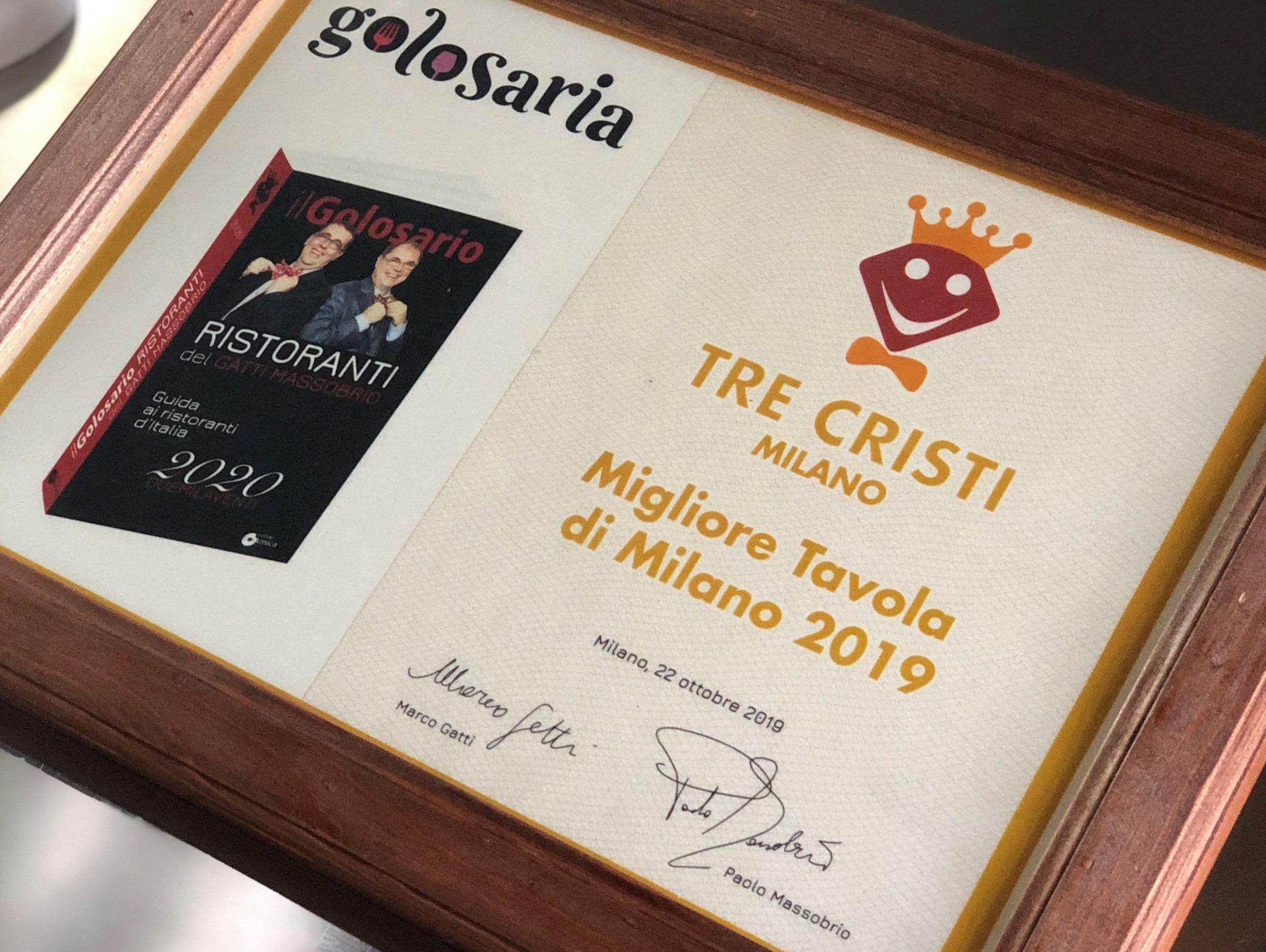 Tre Cristi Milano festeggia un periodo di premi