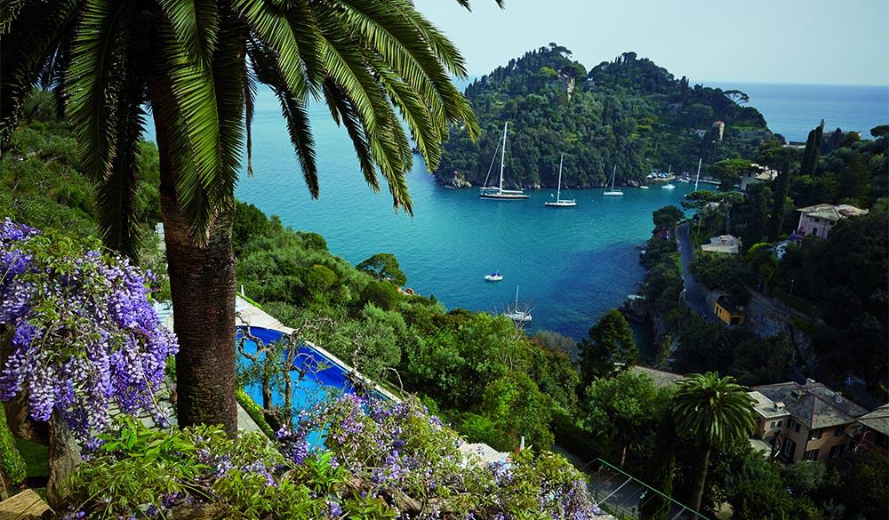 Con la sua terrazza all'aperto, il nuovo ristorante di Portofino.