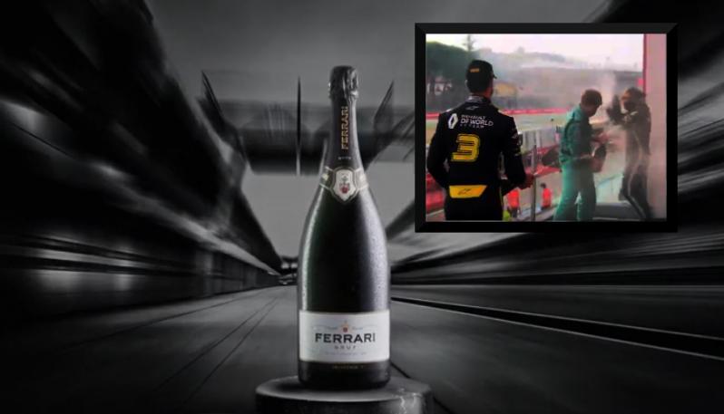Sul podio Ferrari Trento per il brindisi ufficiale della Formula 1
