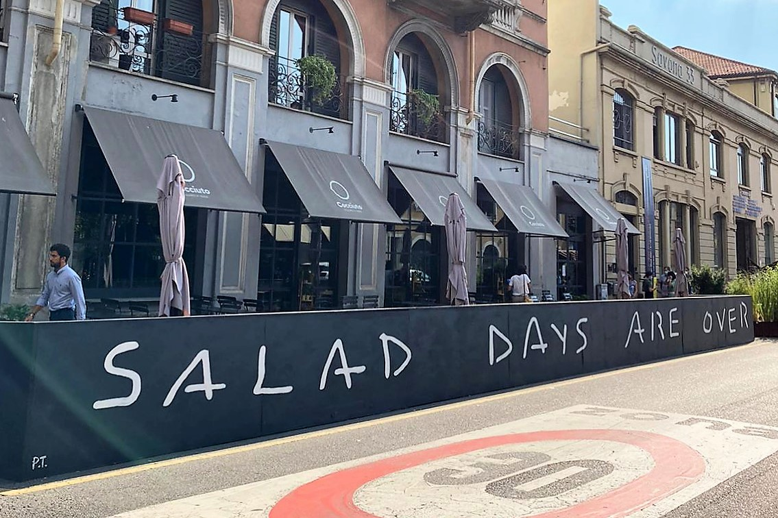 SALAD DAYS ARE OVER